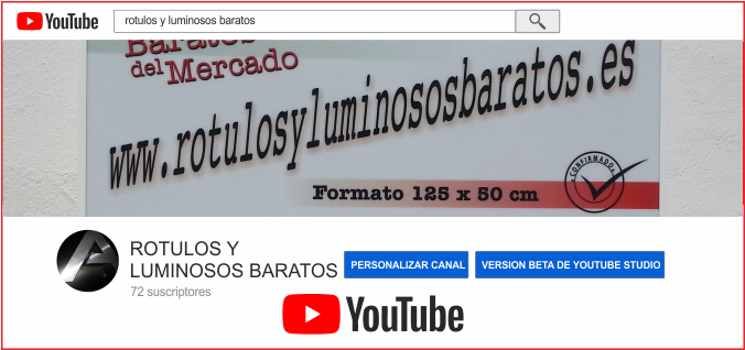 videos de rotulos luminosos
